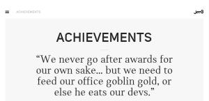 jam3 notable web design firm achievements
