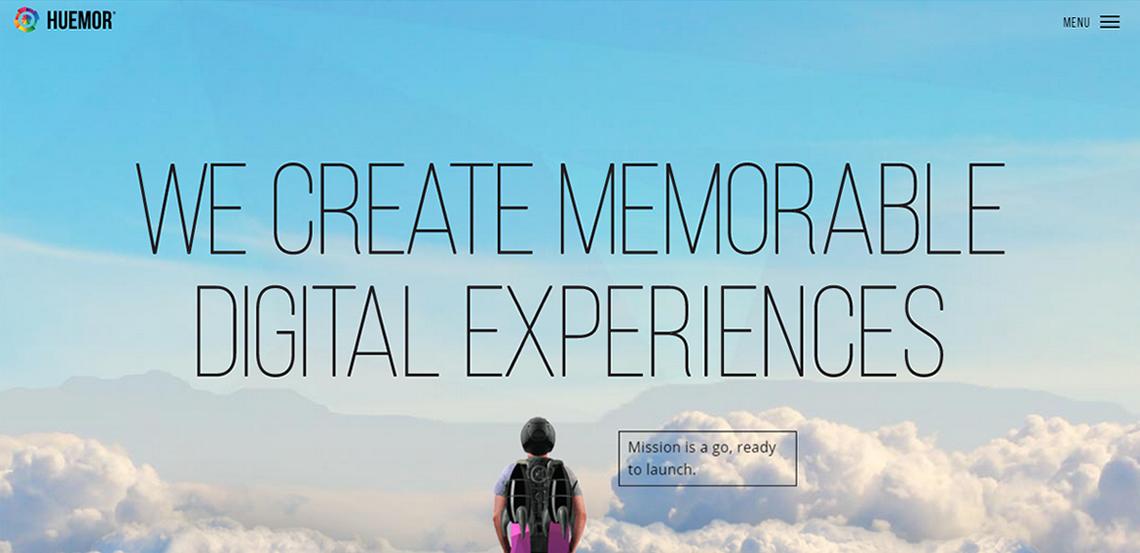 huemor word class web design homepage