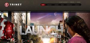 trinet impressive web design firm homepage