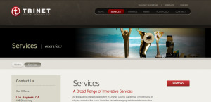 trinet impressive web design firm services