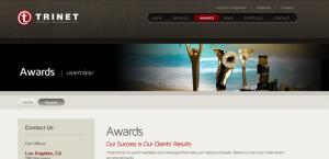 trinet impressive web design firm awards