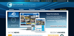bayshore solutions outstanding web design homepage