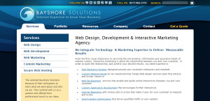 bayshore solutions outstanding web design services