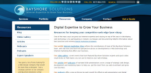 bayshore solutions outstanding web design resources