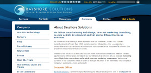 bayshore solutions outstanding web design about us