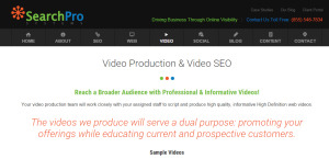 searchprosystems supreme web design firm video production