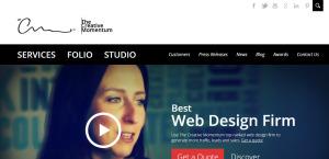 the creative momentum awesome custom web design homepage