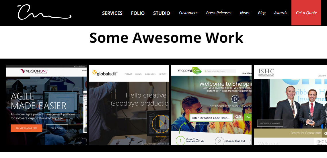 the creative momentum awesome custom web design work