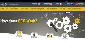 vjginteractive outstanding web design firm homepage