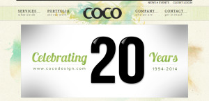 coco great web design firm homepage