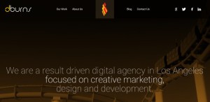 dburns optimum web design firm homepage