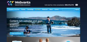 webvanta high grade web design firm homepage