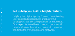brightly excellent web design firm process