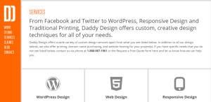 daddy design superior custom web design services