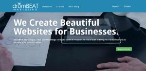 drumbeat marketing top seo web design homepage