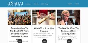 drumbeat marketing top seo web design blog