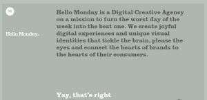 hello monday creative responsive web design about us