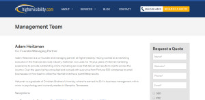 highervisibility web design firm about us