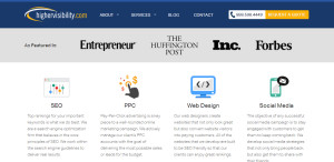 highervisibility web design firm services