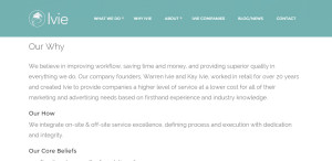 ivie superior custom web design beliefs