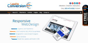 leadtoconversion outstanding web design firm homepage