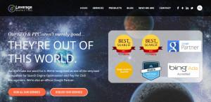 leverage marketing best design company homepage