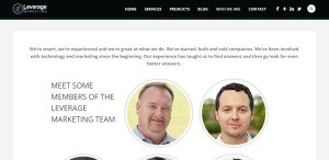 leverage marketing best design company about