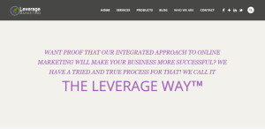 leverage marketing best design company