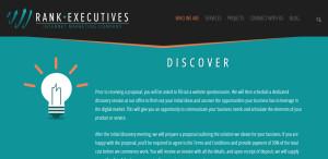 rankexecutives great web design firm process