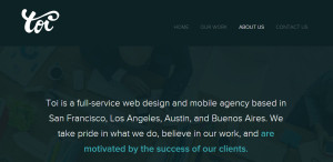 toi top class responsive web design about us