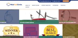 webfullcircle top web design firm homepage