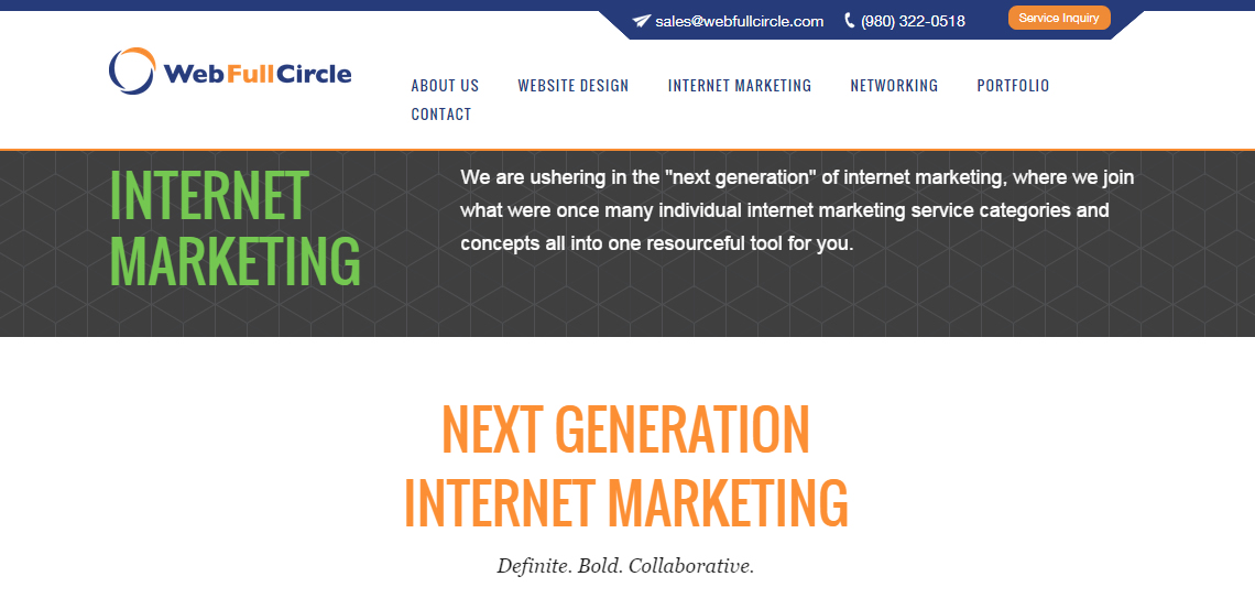 webfullcircle top design firm internet marketing