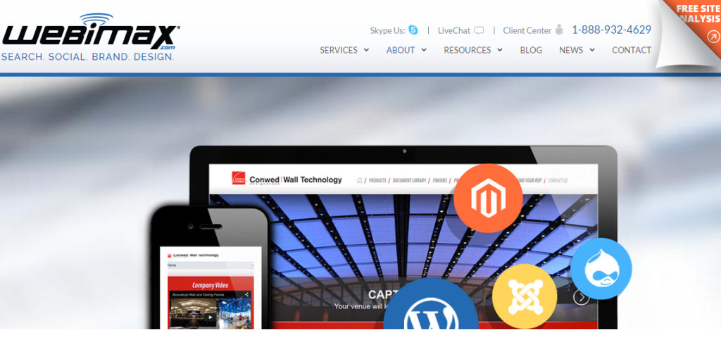 webimax first class web design services
