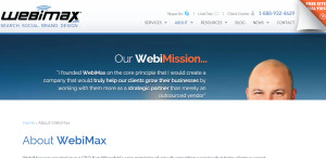 webimax first class web design about us