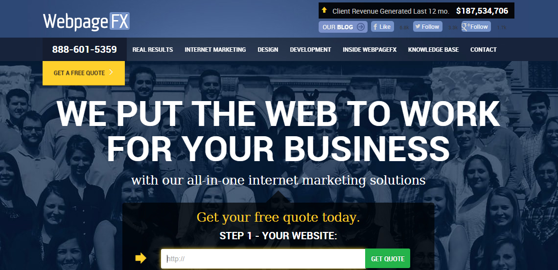 webpagefx best web firm homepage