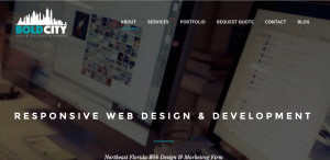 bold city web design firm homepage