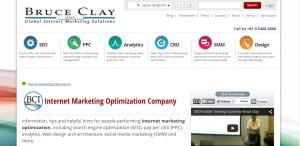 bruceclay supreme web design company homepage