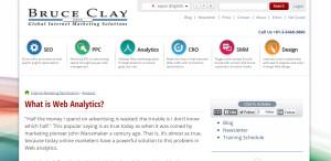 bruceclay supreme web design company Web Analytics