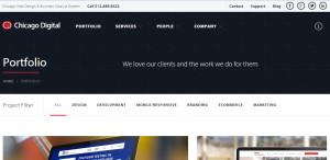 chicagodigital expert web design firm portfolio