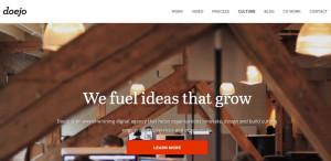 doejo superb web design firm homepage