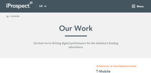 iprospect remarkable web design company work