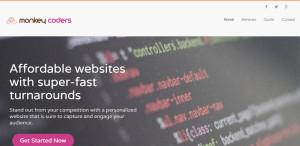 monkey coders elite web design homepage