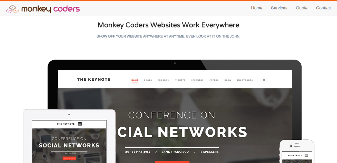 monkey coders elite web design work