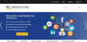 moonstone expert web design firm homepage