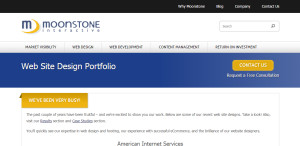 moonstone expert web design firm portfolio