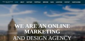 raincross marketing top grade web design firm homepage