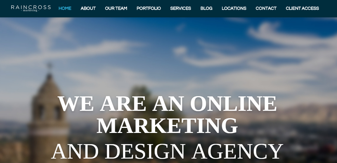 raincross marketing top grade web design firm homepage