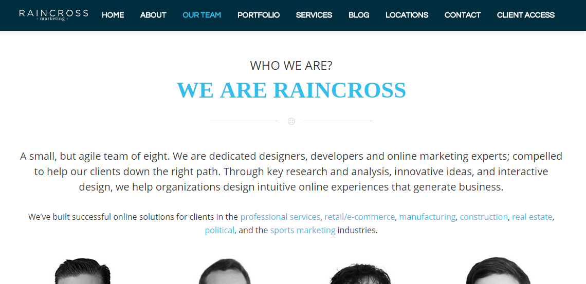 raincross marketing top grade web design firm services