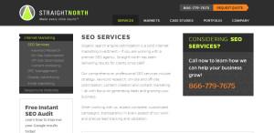 straightnorth prime web design company seo