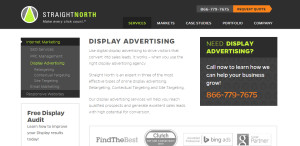 straightnorth prime web design company advertising